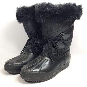 Winter Rubber Boots Nylon Shaft Fur Trim Women's